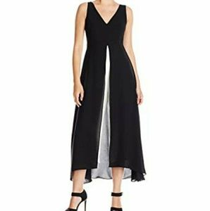 ADRIANNA PAPPELL Two Toned Skirt Overlay Jumpsuit